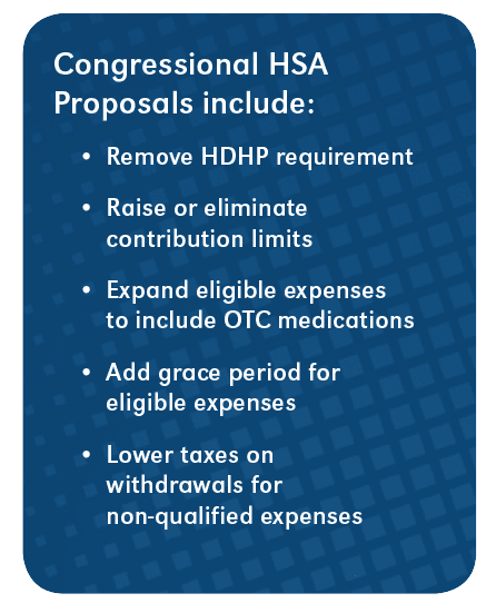 Thriving HSA Market: Congressional HSA Proposals